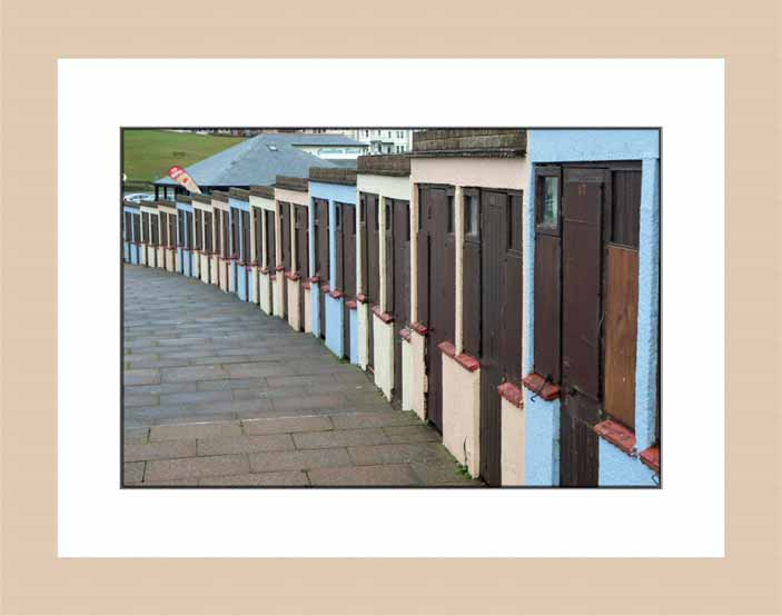Beach huts wood