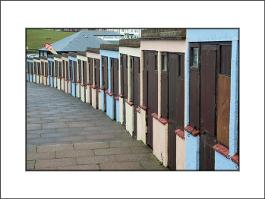 Beach huts Bude mount
