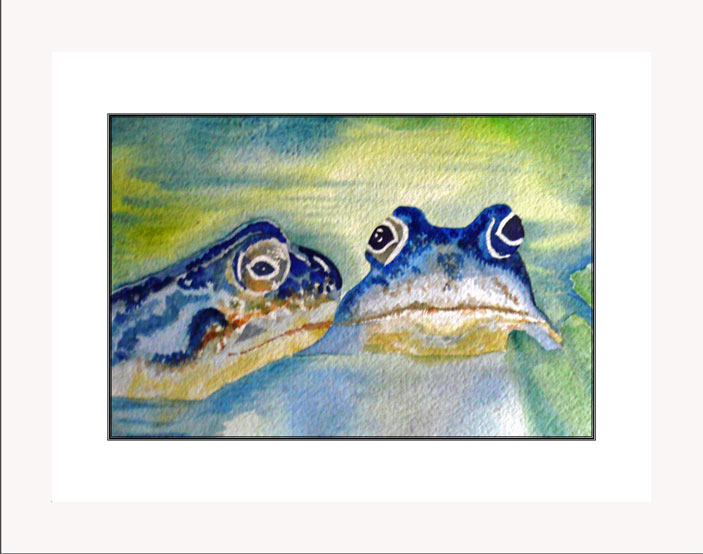 Frogs best of friends white