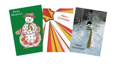 Christmas Cards montage link to Christmas cards.
