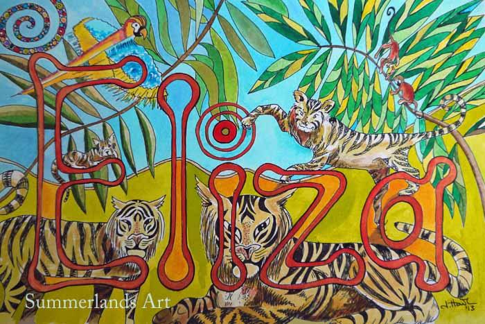 Name Design Art : Summerlands art name designs