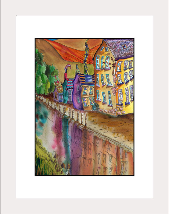 Hebden Bridge white frame