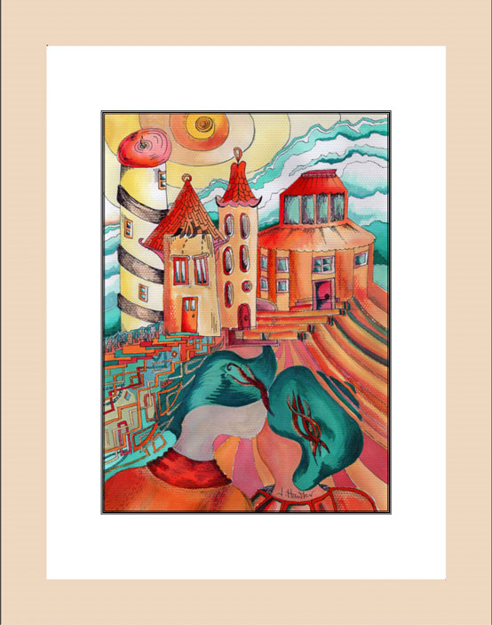 Lovers Dream Print wood frame