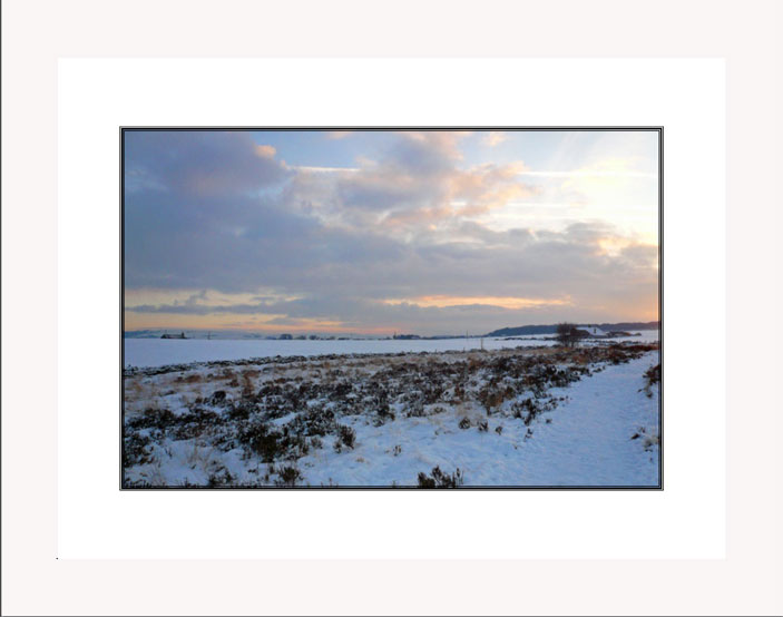 Norland Moor skies white frame