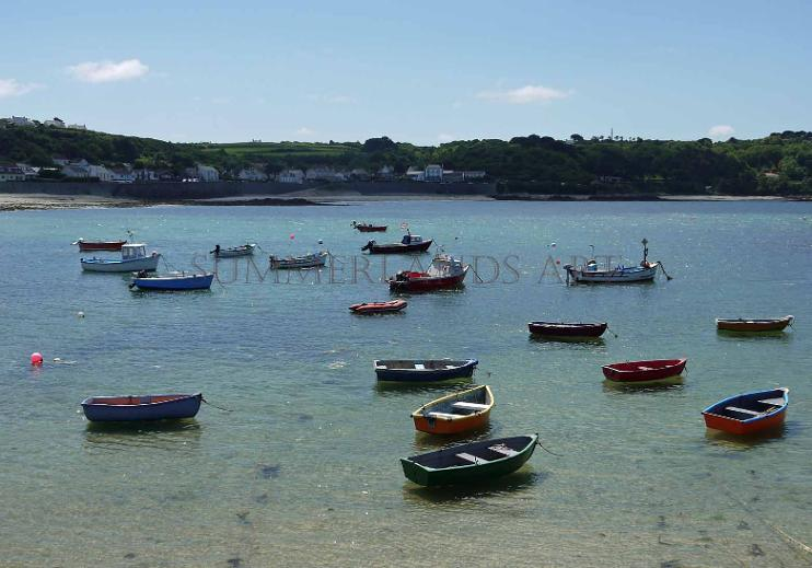 Photo of Boats at Rocquaine Bay, Guernsey