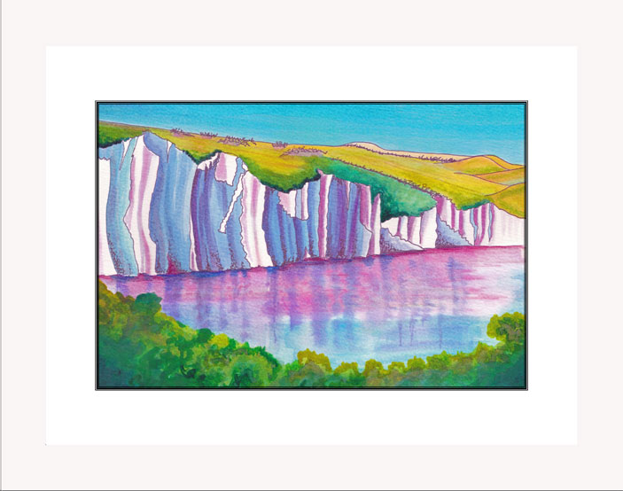 The Seven Sisters print white frame