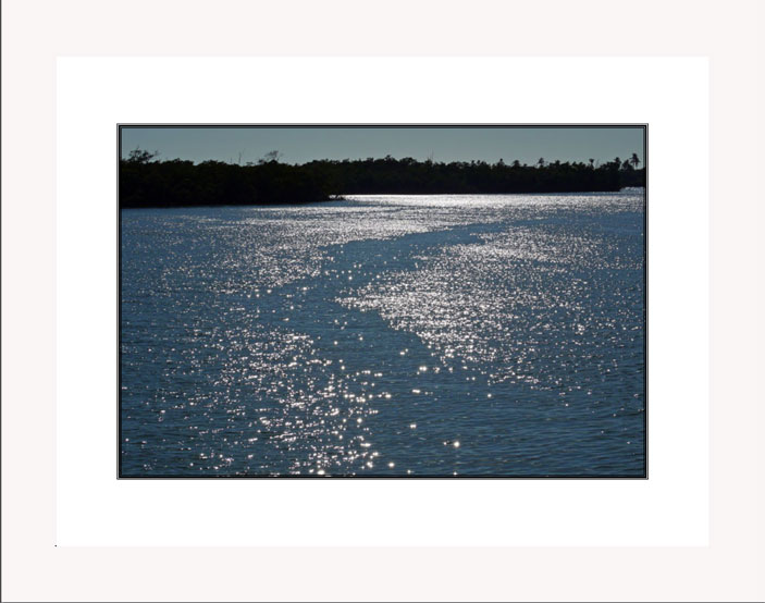 Sparkling Waters white frame