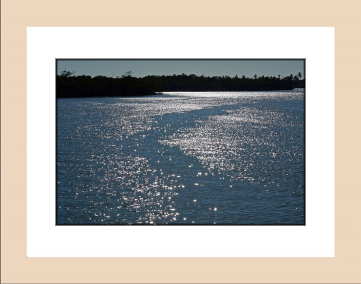 Sparkling Waters wood frame