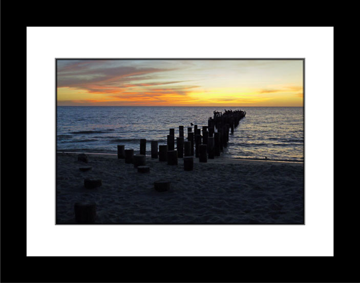 Sunset in Naples 2 black frame