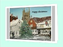 Tenterden High Street happy Christmas card